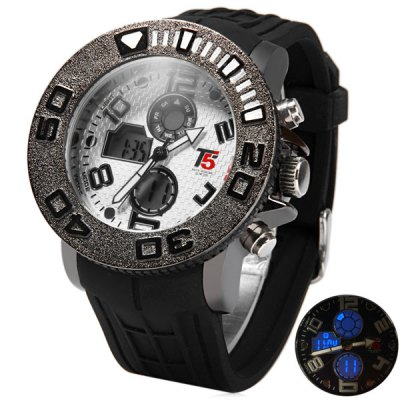ФОТО T5 3347 Multifunction Dual Movt LED Outdoors Sports Watch 30M Water Resistance