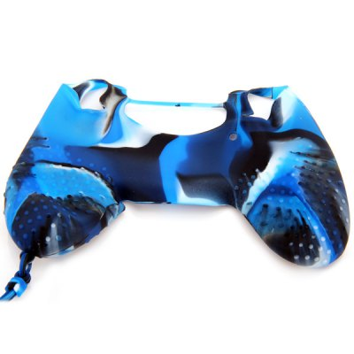 Фотография Controller Protective Case Generation II Camouflage Silicone Gel Cover with Chain for PS4