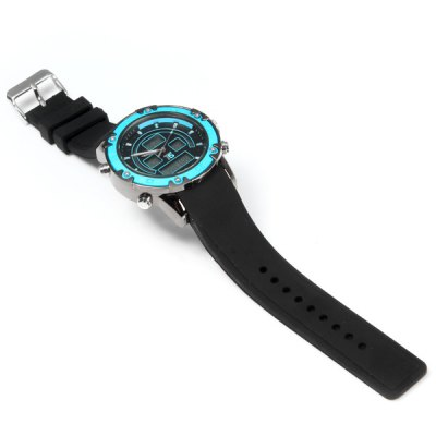 Фотография T5 3306 Water Resistance Multifunction Dual Movt LED Sports Watch