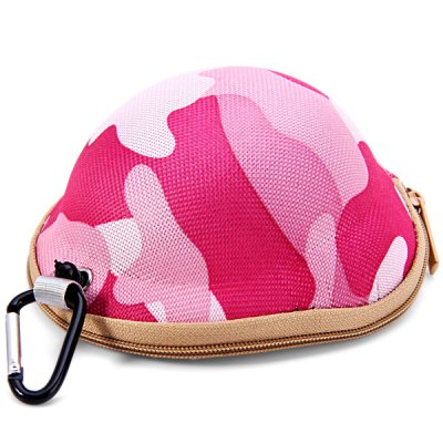 Camouflage Helmet Style Coin / Keys Bag with Metal Buckle