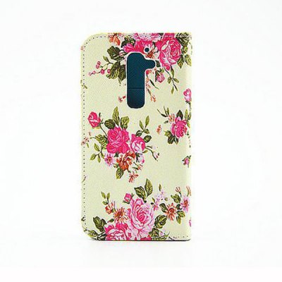 Гаджет   Painting Flowers Pattern Phone Cover PU Case Skin with Stand Function for LG G2 Other Cases/Covers
