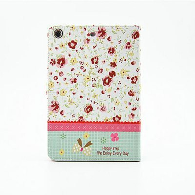 ФОТО Floral Pattern Protective Cover Case of PU and PC Material for iPad mini 2