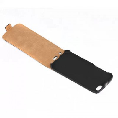 Фотография Practical Vertical Flip Phone Cover Case of Genuine Leather Material for iPhone 6 Plus  -  5.5 inch