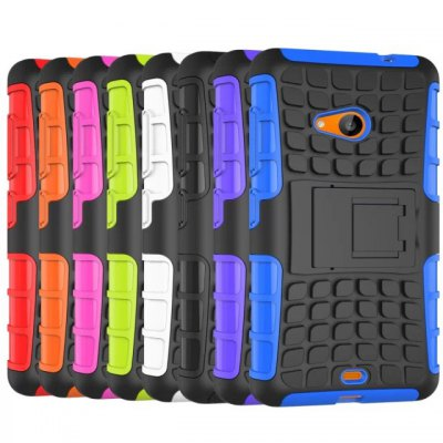 ФОТО Stand Design TPU and PC Material Tire Pattern Protective Back Cover Case for Microsoft Lumia 535