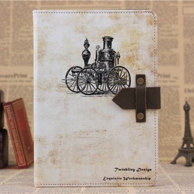 ФОТО PU and PC Material Steam Car Pattern Protective Cover Case with Stand for iPad mini 2