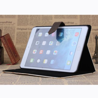 Фотография PU and PC Material Steam Train Pattern Protective Cover Case with Stand for iPad mini 2