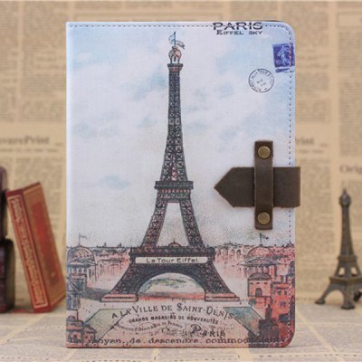 ФОТО PU and PC Material Eiffel Tower Pattern Protective Cover Case with Stand for iPad mini 2