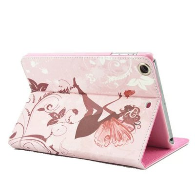 Гаджет   Stand Design Diamond Butterfly Wing Girl Pattern PU Leather Flip Cover Case for iPad Air iPad Cases/Covers