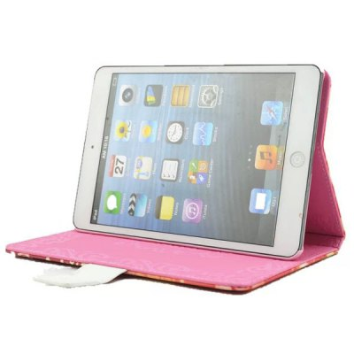 Фотография Stand Design Diamond Butterfly Wing Girl Pattern PU Leather Flip Cover Case for iPad Air