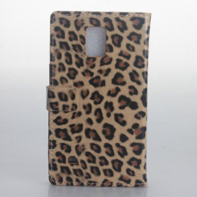 Гаджет   Leopard Print Pattern PU and PC Material Card Holder Cover Case with Stand for Samsung Galaxy Note 4 N9100 Samsung Cases/Covers