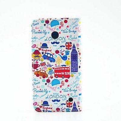 Гаджет   Stand Design Cartoon Pattern PU Leather Phone Cover Case for Nokia Lumia 630 Other Cases/Covers