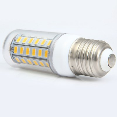 Sencart 11W E27 56 SMD 5730 LEDs Corn Lamp Transparent Cover Bulb ( 2200Lm Soft White )LED Light Bulbs<br>Sencart 11W E27 56 SMD 5730 LEDs Corn Lamp Transparent Cover Bulb ( 2200Lm Soft White )<br><br>Brand : Sencart<br>Base Type: E27<br>Type: Corn Bulbs<br>Output Power: 11W<br>Emitter Type: SMD-5730 LED<br>Total Emitters: 56<br>Theoretical Lumen(s): 2800Lm<br>Actual Lumen(s): 2200Lm<br>Wavelength/Color Temperature: 6000-6500K, 3000-3500K<br>Voltage (V): AC 110-120V<br>Angle: 360<br>Lifespan: 50000<br>Appearance: Clear Cover<br>Features: 80% Brightness, Low Power Consumption, Energy Saving<br>Function: Studio and Exhibition Lighting, Commercial Lighting, Home Lighting<br>Available Light Color: Cold White, Warm White<br>Sheathing Material: PC, ABS<br>Product Weight: 0.035 kg<br>Package Weight: 0.095 kg<br>Product Size (L x W x H): 9.5 x 3.1 x 3.1 cm / 3.73 x 1.22 x 1.22 inches<br>Package Size (L x W x H): 10 x 4 x 4 cm / 3.93 x 1.57 x 1.57 inches<br>Package Contents: 1 x LED Light Bulb