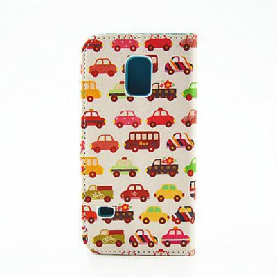 Stand Design Car Pattern PU and PC Material Phone Cover Case for Samsung Galaxy S5 mini