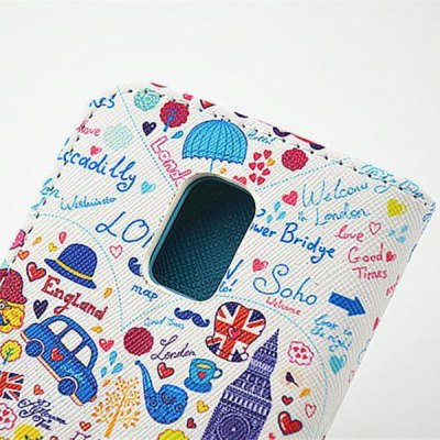 Фотография Stand Design Cartoon Pattern PU and PC Material Phone Cover Case for Samsung Galaxy S5 mini