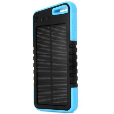 Гаджет   MK808 Dustproof 5000mAh Solar Bank Mobile Power Backup Camping Outdoor Travel Power Supply with Lithium Polymer Battery Charger iPhone Power Bank