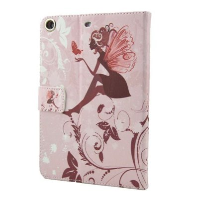 Фотография Butterfly Wings Girl Pattern Inlaid Diamond Design Pad Cover PU Case Skin with Stand Function for iPad Mini 3