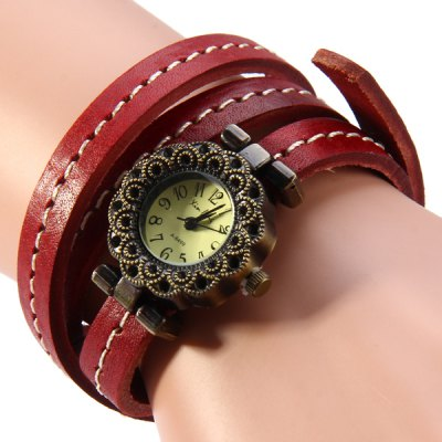 Xinfeng A - 6499 Flower - shaped Dial Long Leather Band Retro Women Quartz Watch BraceletWomens Watches<br>Xinfeng A - 6499 Flower - shaped Dial Long Leather Band Retro Women Quartz Watch Bracelet<br><br>Brand: Xinfeng<br>Watches categories: Female table<br>Available color: Black, Brown<br>Style : Fashion&amp;Casual, Retro<br>Movement type: Quartz watch<br>Display type: Analog<br>Case material: Alloy<br>Band material: Leather<br>Clasp type: Pin buckle<br>The dial thickness: 0.9 cm / 0.31 inches<br>The dial diameter: 2.5 cm / 0.98 inches<br>The band width: 1.0 cm / 0.39 inches<br>Product weight: 0.032 kg<br>Package weight: 0.082 kg<br>Product size (L x W x H) : 61 x 2.5 x 0.8 cm / 23.97 x 0.98 x 0.31 inches<br>Package size (L x W x H): 10 x 9 x 2 cm / 3.93 x 3.54 x 0.79 inches<br>Package contents: 1 x Xinfeng A-6499 Watch