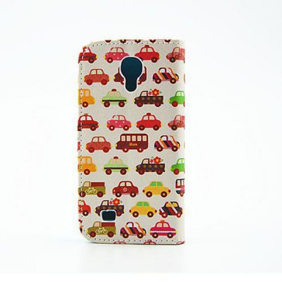 Гаджет   Stand Design Car Pattern PU and PC Material Phone Cover Case for Samsung Galaxy S4 mini Samsung Cases/Covers