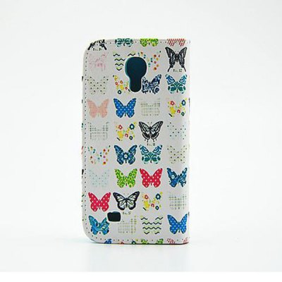 Гаджет   Stand Design Butterfly Pattern PU and PC Material Phone Cover Case for Samsung Galaxy S4 mini Samsung Cases/Covers