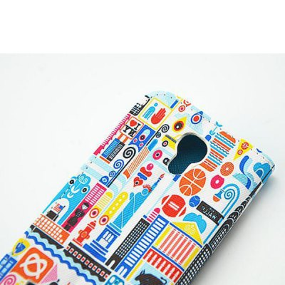 Фотография Stand Design Painting Architecture Pattern PU and PC Material Phone Cover Case for Samsung Galaxy S4 mini