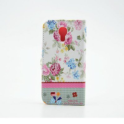 Stand Design Floral Pattern Diamante PU and PC Cover Case for Samsung Galaxy S4 miniSamsung Cases/Covers<br>Stand Design Floral Pattern Diamante PU and PC Cover Case for Samsung Galaxy S4 mini<br><br>Compatible models: Samsung Galaxy S4 mini<br>Features: With Credit Card Holder, Cases with Stand, Full Body Cases<br>Material: Plastic, PU Leather<br>Style: Floral, Diamond Look<br>Product weight: 0.060 kg<br>Package weight: 0.120 kg<br>Product size (L x W x H) : 12.5 x 6.5 x 1 cm / 4.91 x 2.55 x 0.39 inches<br>Package size (L x W x H): 12.7 x 6.7 x 1.2 cm / 4.99 x 2.63 x 0.47 inches<br>Package Contents: 1 x Case