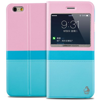 100PCS Joyroom PU and PC Material Contrast Color Cover Case for iPhone 6  -  4.7 inches - JoyroomiPhone Cases/Covers<br>100PCS Joyroom PU and PC Material Contrast Color Cover Case for iPhone 6  -  4.7 inches<br><br>Brand: Joyroom<br>Compatible for Apple: iPhone 6<br>Features: With View Window<br>Material: PU Leather, Plastic<br>Style: Contrast Color<br>Color: Blue, Purple, off-white, Black, Pink<br>Product weight : 5.000 kg<br>Package weight : 5.200 kg<br>Product size (L x W x H): 32 x 32 x 24 cm / 12.58 x 12.58 x 9.43 inches<br>Package size (L x W x H) : 33 x 33 x 25 cm / 12.97 x 12.97 x 9.83 inches<br>Package contents: 100 x Case