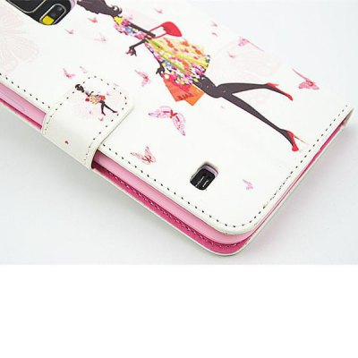 Фотография Stand Design Shopping Girl Pattern PU Leather Cover Case for Samsung Galaxy S5 i9600 SM - G900