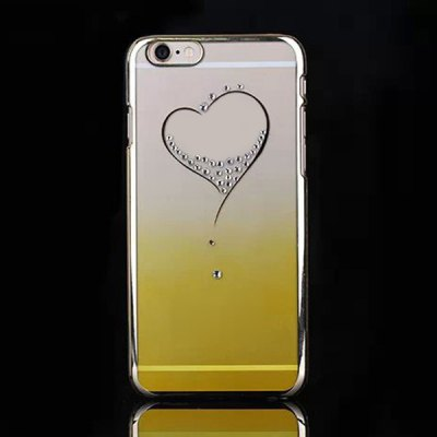 Гаджет   PC Material Diamond Heart Pattern Back Cover Case with Gradient Color Design for iPhone 6 Plus  -  5.5 inch
