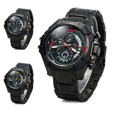 Гаджет   T5 3376 Date Display Chronograph Wristwatch Business Male Quartz Watch Men