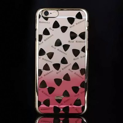 Здесь можно купить   PC Material Diamond Bowknot Pattern Back Cover Case with Gradient Color Design for iPhone 6 Plus  -  5.5 inch