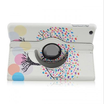 Гаджет   360 Degrees Rotation Colorful Tree Design Pad Cover PU Case Skin with Stand Function for iPad 5 / Air iPad Cases/Covers
