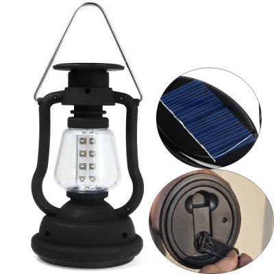 RY  -  T92 Portable Camping Light Bright 16 LEDs Solar Hand Crank Lamp Travel Outdoor Camping Necessaries