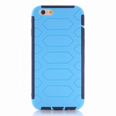 Tire Pattern Design TPU and PC Material Detachable Protective Back Cover Case for iPhone 6