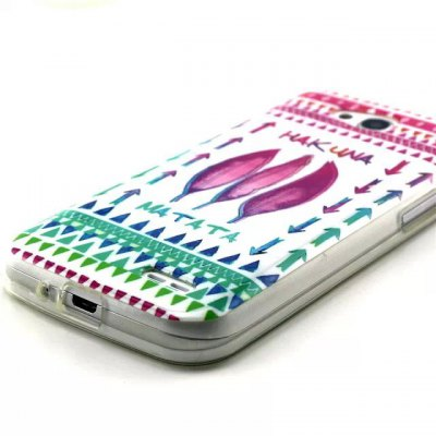 Гаджет   Practical TPU Leaves Arrows Pattern Phone Back Cover Case for LG L90 Other Cases/Covers