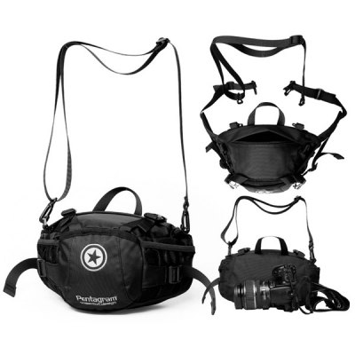 A001 Pentagram Durable Waist Bag Phone Camera Bag Outdoor Hiking Fishing Necessary