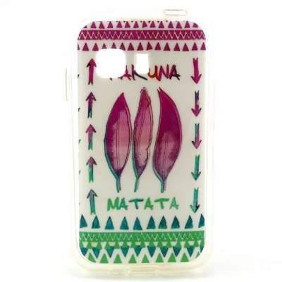 Practical TPU Leaves Arrows Pattern Phone Back Cover Case for Samsung Galaxy Young 2 G130