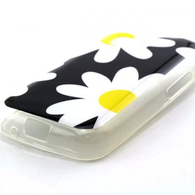 ФОТО Practical TPU Flowers Pattern Phone Back Cover Case for Samsung Galaxy Young 2 G130