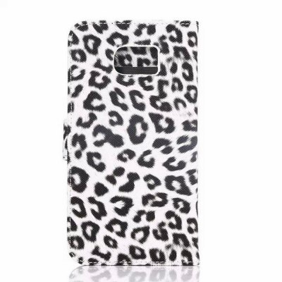 ФОТО 50PCS PU and PC Material Leopard Print Pattern Protective Cover Case for Samsung Galaxy S6 G9200