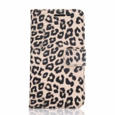 ФОТО 20PCS PU and PC Material Leopard Print Pattern Protective Cover Case for Samsung Galaxy S6 G9200