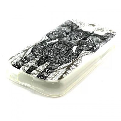 Practical TPU Gray Elephant Pattern Phone Back Cover Case for Samsung Galaxy Pocket 2 G110