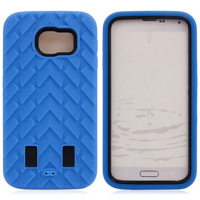 Гаджет   50PCS PC and Silicone Material Tyre Texture Design Back Cover Case for Samsung Galaxy S6 G9200 Samsung Cases/Covers