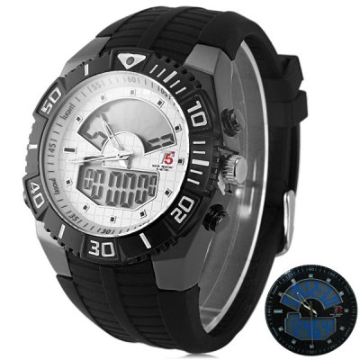 ФОТО T5 3350 Water Resistance Dual Movt LED Sports Watch