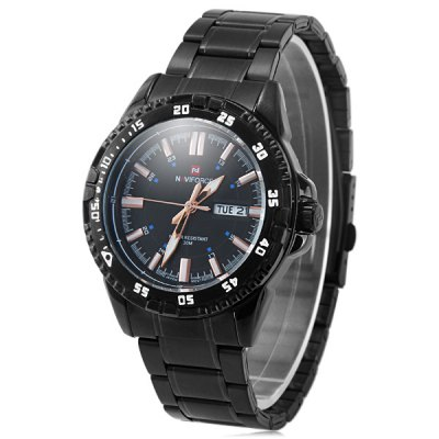 ФОТО Naviforce 9054 Men Quartz Watch Tungsten Steel Body Water Resistance with Date Day Function