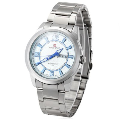 ФОТО Naviforce 9035 Men Japan Quartz Watch Water Resistance with Date Day Function