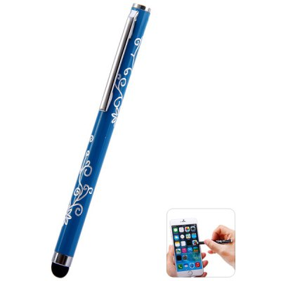 Portable Clip Design Embossing Touch Screen Stylus Pen