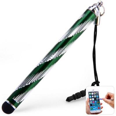 Portable 2 in 1 Touch Screen Stylus Pen with Anti - Dust Plug Design