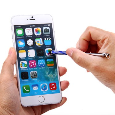 Фотография Portable 2 in 1 Touch Screen Stylus Pen with Anti - Dust Plug Design for iPhone 6 / 6 Plus iPad Samsung S6 HTC ONE M9 etc.