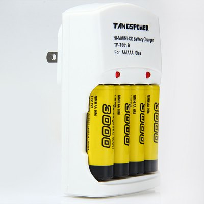 Гаджет   TangsPower T  -  801B 4 Channels Super Quick Li - ion Battery Charger Chargers