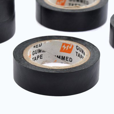 Фотография 2pcs 10m Black PVC Flame Retardant Electrical Tape Waterproof for Wires Cable Bonds