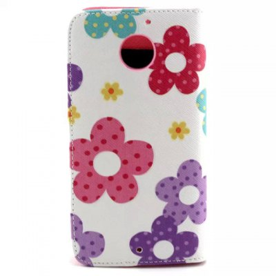 Гаджет   Stand Design Flowers Pattern PU and PC Material Phone Cover Case for Motorola MOTO X 2 Other Cases/Covers
